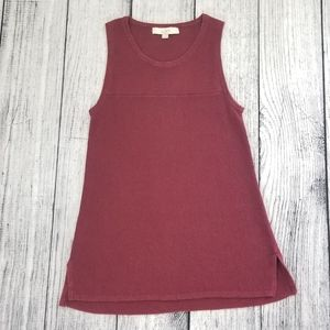 Loft Maroon Red Knit Tunic Tank